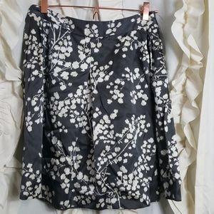 Moulinette Soeurs floral abstract silk blend skirt